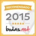 """Recomendado ORO 2015 en """"Bodas.net"""""""